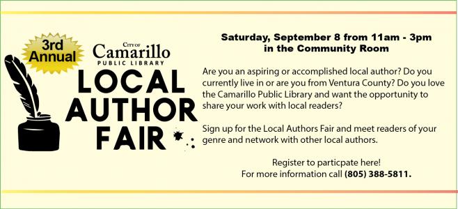 Local Author Fair 2018