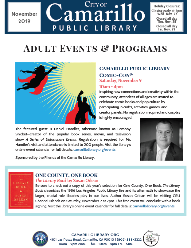 Adult newsletter cover
